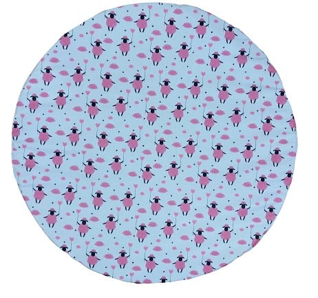 wateproof baby playmat pink sheep