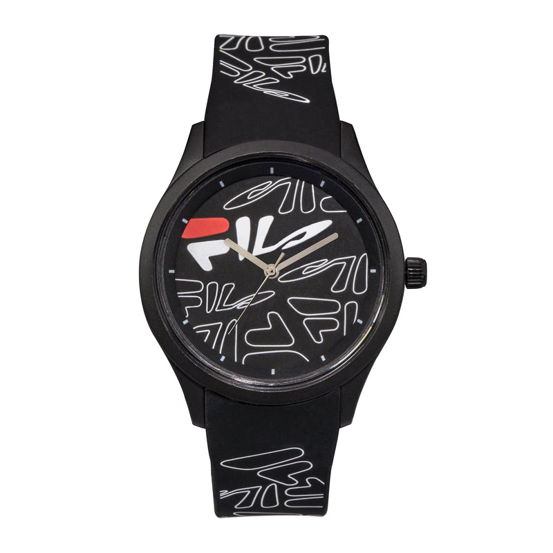 Picture of FILA | 38-129-202 | Men's and Women's White Analog Watch with Black and White Silicone Strap | Water Resistant