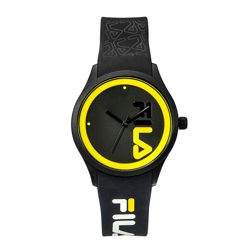 Picture of FILA | 38-129-212 | Men and Women's Black and Yellow Analog Watch | Water Resistant