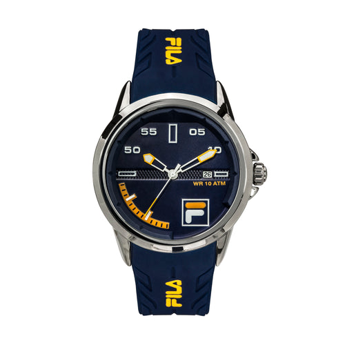 Picture of FILA | 38-170-003 | Men's and Women's Blue and Stainless Steel Analog Watch | Date Tracker | Water Resistant