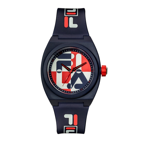 Picture of FILA | 38-180-101 | Men's and Women's Red, White, and Blue Analog Watch | Water Resistant