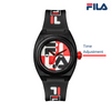 Picture with button description and function of FILA | 38-180-102 | Men's and Women's Black, Red, and White Analog Watch | Water Resistant