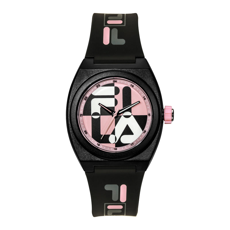 Picture of FILA | 38-180-104 | Men's and Women's Black and Pink Analog Watch | Water Resistant