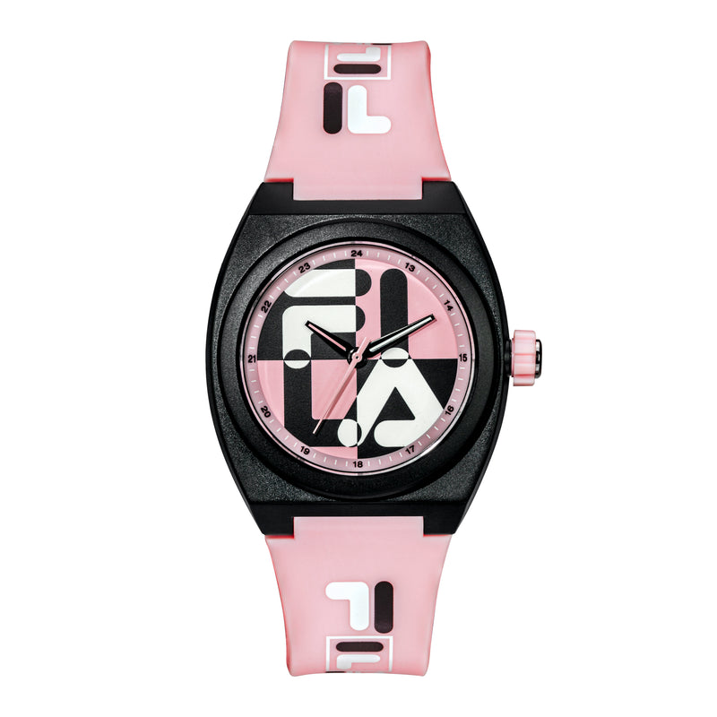 Picture  of FILA | 38-180-106 | Men's and Women's Pink and Black Analog Watch | Water Resistant