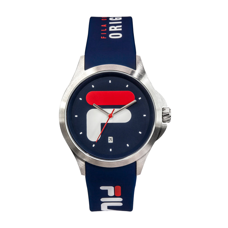 Picture of FILA | 38-181-002 | Men's and Women's Blue and Stainless Steel Analog Watch | Date Tracker