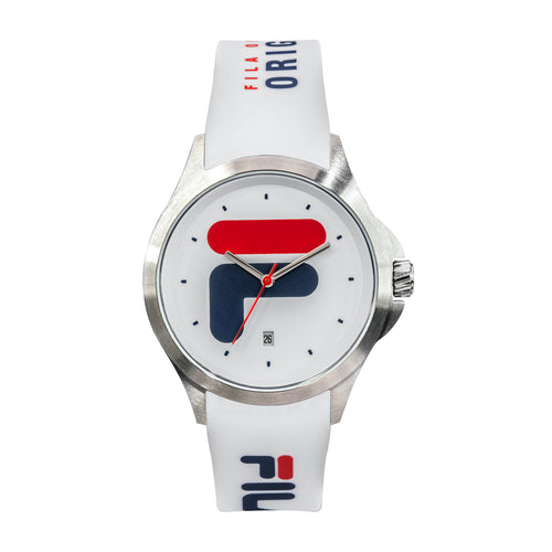 Picture of FILA | 38-181-003 | Men's and Women's White and Stainless Steel Analog Watch | Date Tracker