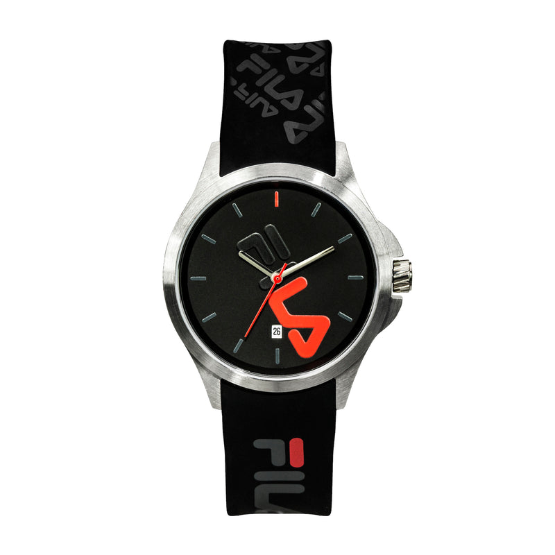 Picture of FILA | 38-181-007 | Men's and Women's Black and Stainless Steel Analog Watch | Date Tracker