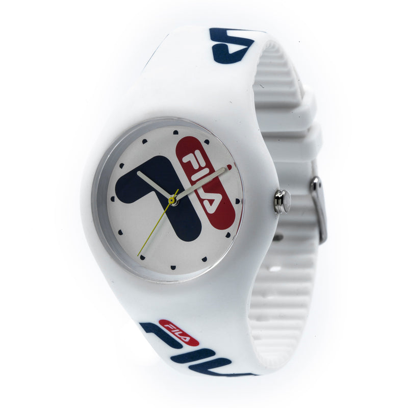 Picture of FILA | 38-185-003 | Men's and Women's White Analog Watch | Water Resistant at a 45 degree angle