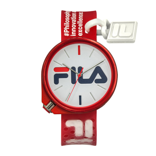Picture of FILA | 38-199-010 | Men's and Women's Red Analog Watch | Water Resistant
