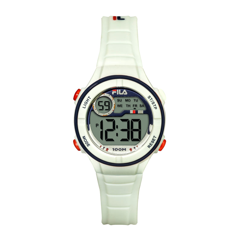 Picture of FILA | 38-205-002 | Kids Unisex White Digital Watch | Date Tracker | Alarm | Stopwatch | Light Up Face