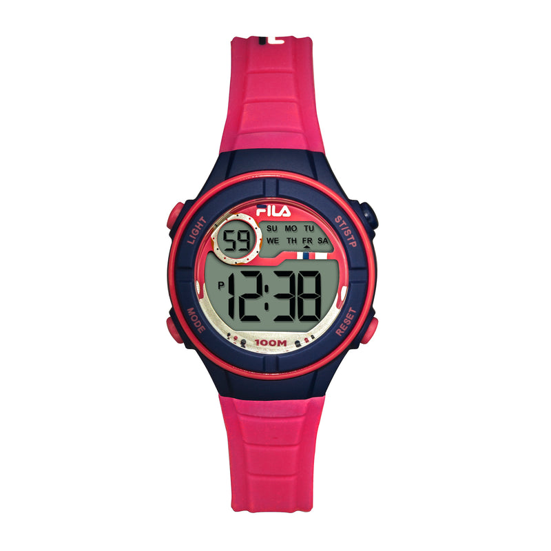 Picture of FILA | 38-205-004 | Kids Unisex Hot Pink and Purple Digital Watch | Date Tracker | Alarm | Stopwatch | Light Up Face