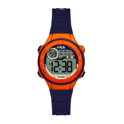 Picture of FILA | 38-205-005 | Kids Unisex Blue and Orange Digital Watch | Date Tracker | Alarm | Stopwatch | Light Up Face