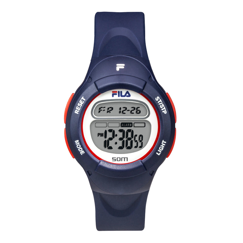 Picture of FILA | 38-213-001 | Kids Unisex Blue Digital Watch | Date Tracker | Alarm | Stopwatch | Light Up Face