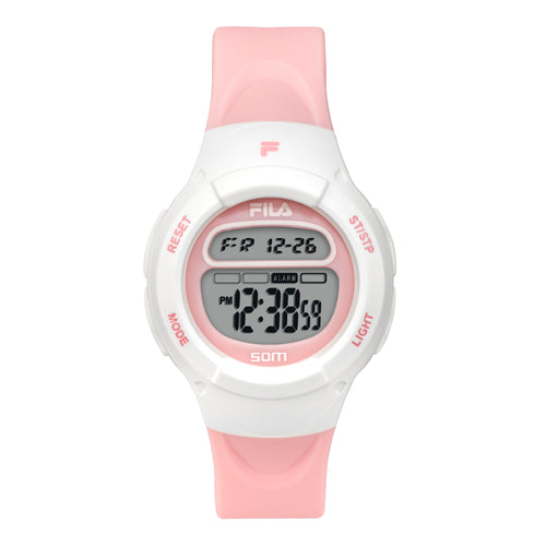 Picture of FILA | 38-213-005 | Kids Unisex Pink and White Digital Watch | Date Tracker | Alarm | Stopwatch | Light Up Face