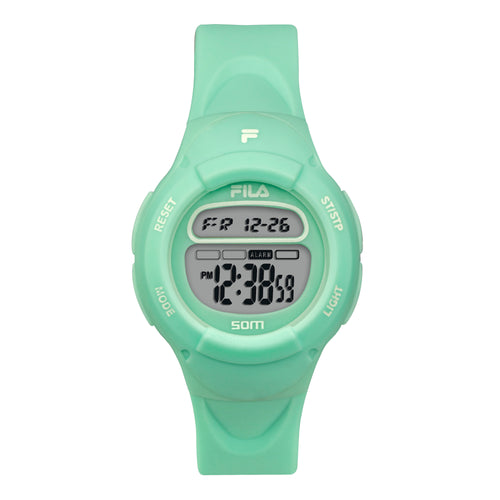 Picture of FILA | 38-213-007 | Kids Unisex Green Digital Watch | Date Tracker | Alarm | Stopwatch | Light Up Face
