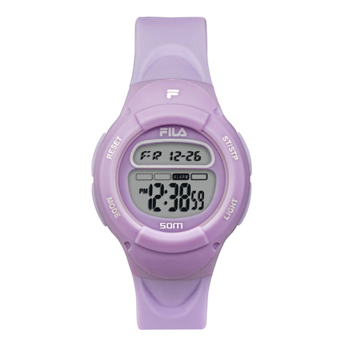 Picture of FILA | 38-213-008 | Kids Unisex Purple Digital Watch | Date Tracker | Alarm | Stopwatch | Light Up Face