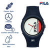 Picture with the key features of FILA | 38-311-001 | Men's and Women's Blue and White Analog Watch | Water Resistant