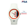 Picture with button description and function of FILA | 38-311-002 | Men's and Women's White Analog Watch | Water Resistant
