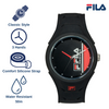 Picture with the key features of FILA | 38-311-003 | Men's and Women's Black Analog Watch | Water Resistant