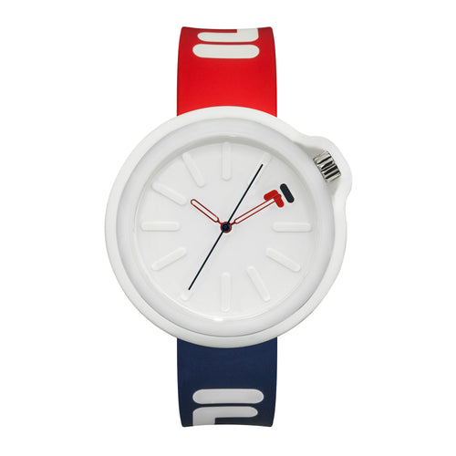 Picture of FILA | 38-315-001DBRD | Men's and Women's Red, White, and Blue Analog Watch | Water Resistant | Interchangeable Case
