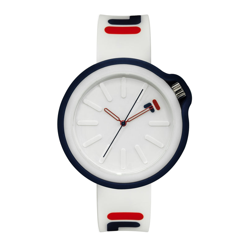 Picture of FILA | 38-315-003WHRD | Men's and Women's White and Blue Analog Watch | Water Resistant | Interchangeable Case
