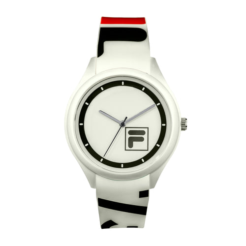 Picture of FILA Watch | 38-321-101 | Men's and Women's White and Black Analog Watch | Water Resistant