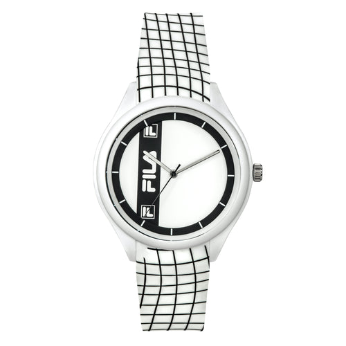 Picture  of FILA Watch | 38-321-201 | Men's and Women's White and Black Analog Watch | Water Resistant