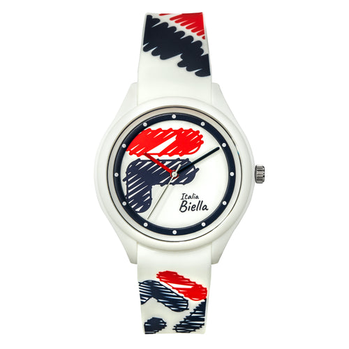 Picture of FILA Watch | 38-321-301 | Men's and Women's Red, White, and Blue Analog Watch | Water Resistant
