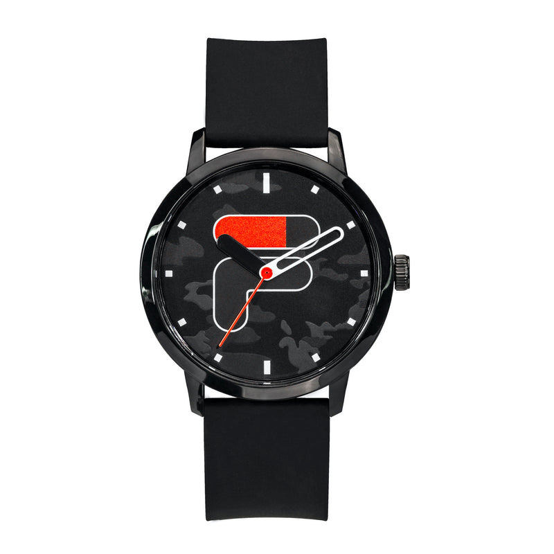 Picture of FILA Watch | 38-326-102 | Men's and Women's Black Camo Analog Watch | Water Resistant