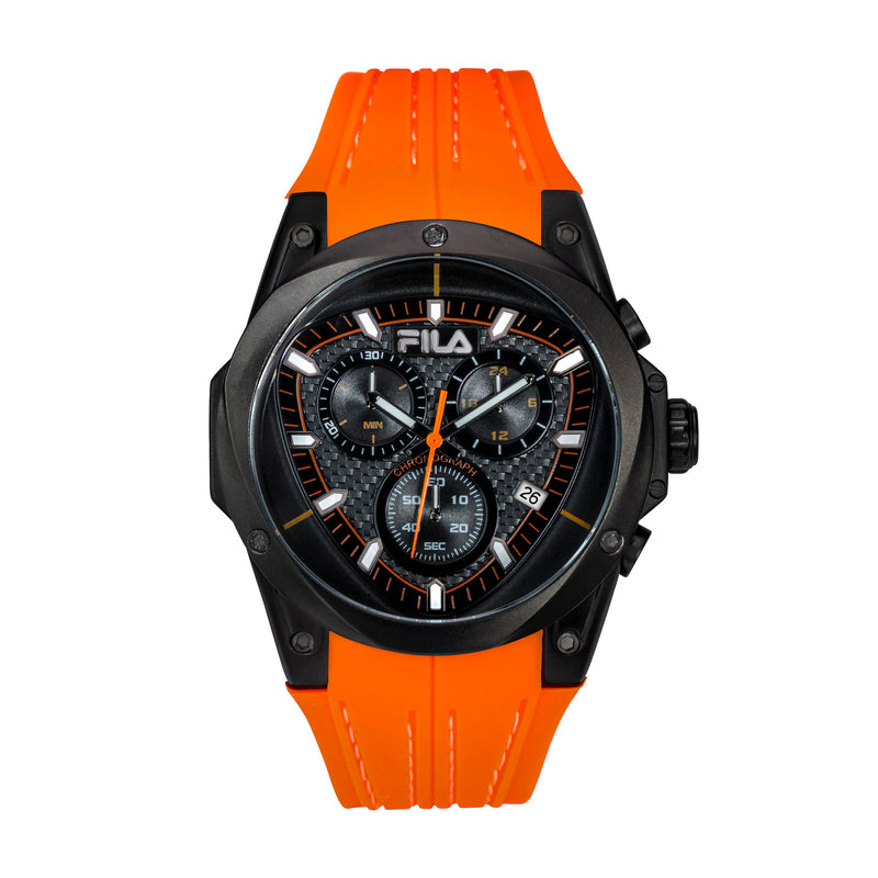 Pictures of FILA | 38-821-006 | Men's and Women's Orange and Black Analog Watch | Water Resistant | Stopwatch
