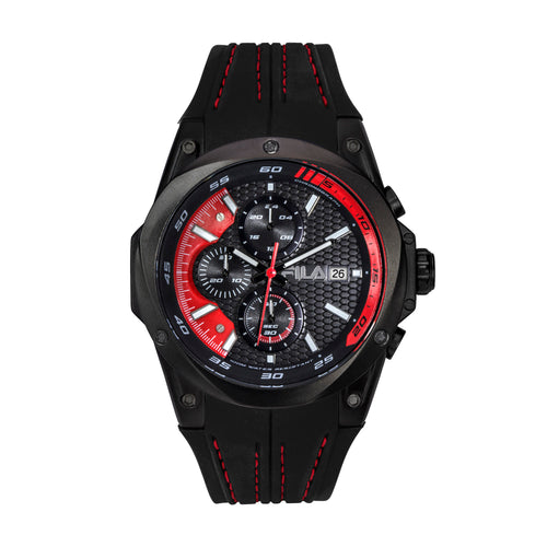 Picture of FILA | 38-823-003 | Men's and Women's Black and Red Analog Watch | Water Resistant | Stopwatch
