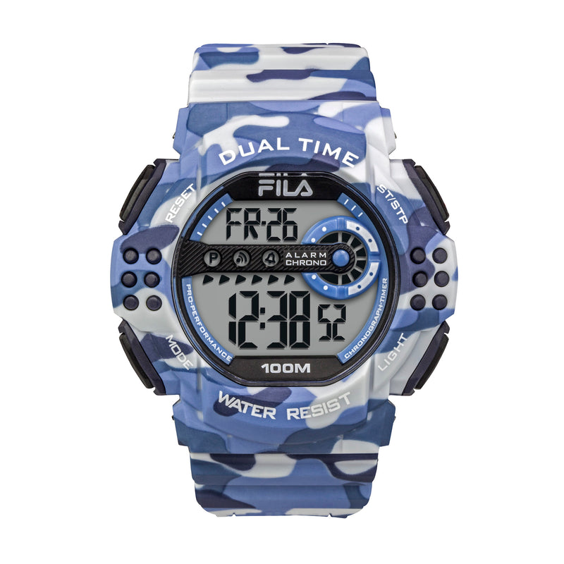 Picture of FILA | 38-171-001 | Men's and Women's Camo Digital Watch | Date Tracker | Stopwatch | Alarm | Light Up Face