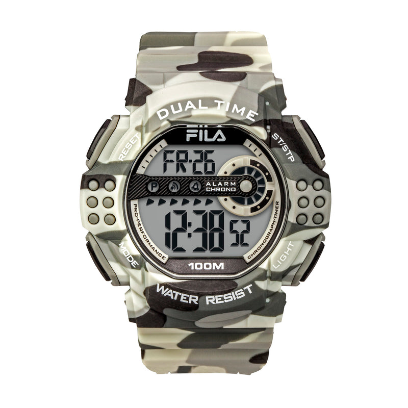 Picture of FILA | 38-171-004 | Men's and Women's Blue Camo Digital Watch | Date Tracker | Stopwatch | Alarm | Light Up Face