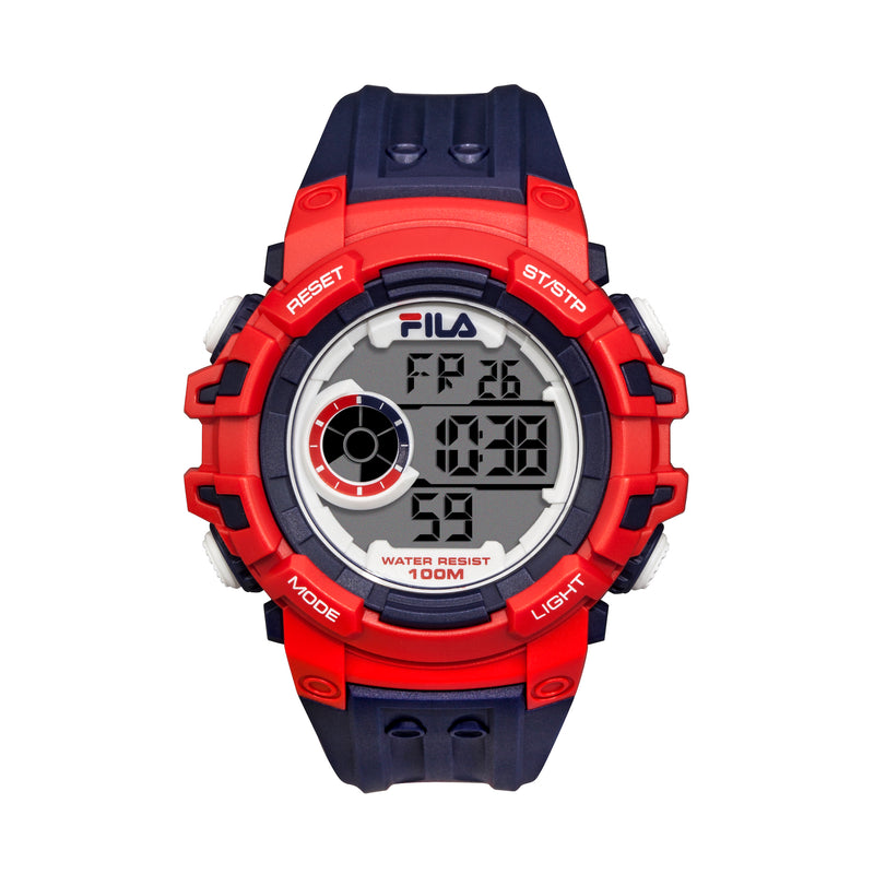 Picture of FILA | 38-188-001 | Men's and Women's Blue and Red Digital Watch | Date Tracker | Stopwatch | Backlight | Water Resistant
