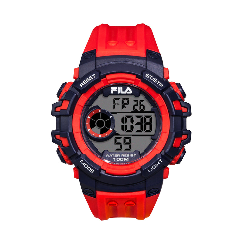 Picture of FILA | 38-188-002 | Men's and Women's Red and Blue Digital Watch | Date Tracker | Stopwatch | Backlight | Water Resistant
