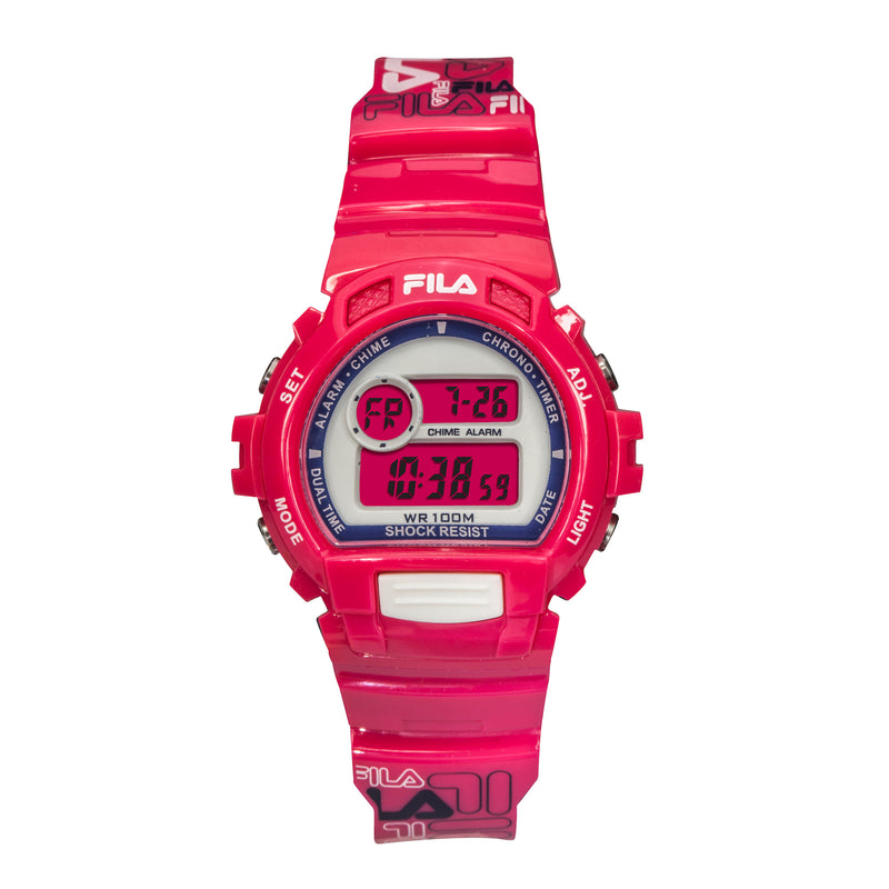 Picture of FILA | 38-191-003 | Men's and Women's Hot Pink Digital Watch | Date Tracker | Stopwatch | Alarm | Backlight | Water Resistant