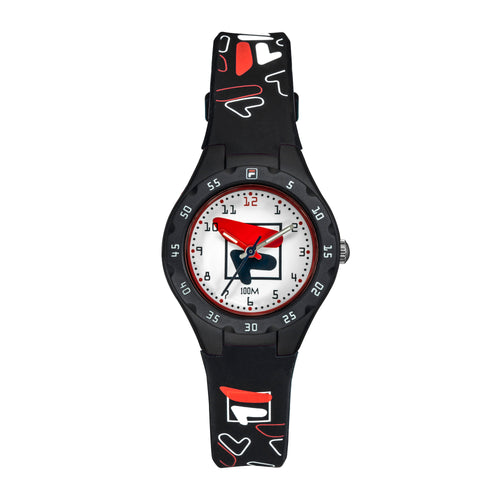 Picture of FILA | 38-204-002 | Kids Unisex Black and White Analog Watch | Water Resistant