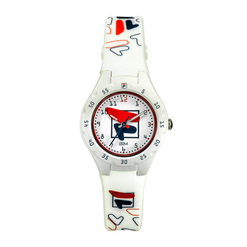 Picture of FILA | 38-204-003 | Kids Unisex White Analog Watch | Water Resistant