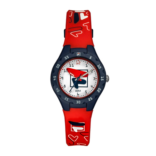 Picture of FILA | 38-204-004 | Kids Unisex Red and Blue Analog Watch | Water Resistant