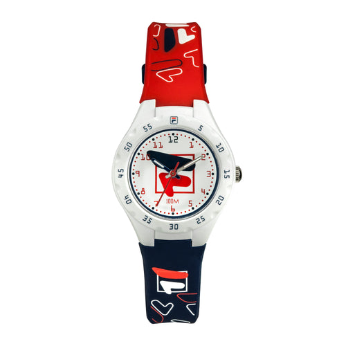 Picture of FILA | 38-204-005 | Kids Unisex Red, White, and Blue Analog Watch | Water Resistant