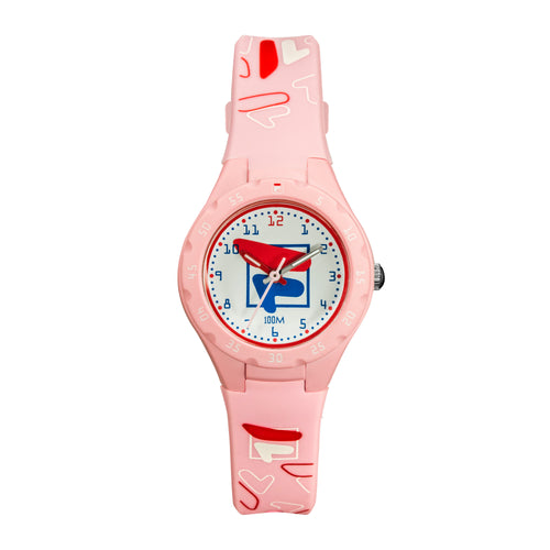 Picture of FILA | 38-204-006 | Kids Unisex Pink and White Analog Watch | Water Resistant