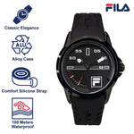 Picture with the key features of FILA Watch | 38-170-001 | Men and Women's Blue and Stainless Steel Analog Watch | Water Resistant | Date Tracker