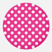 Round Stickers - Hot Pink Base 10