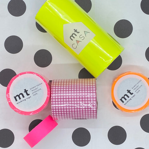 Washi Tape - Pink Square 50mm