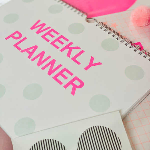 Weekly Planner- Neon Pink & Mint