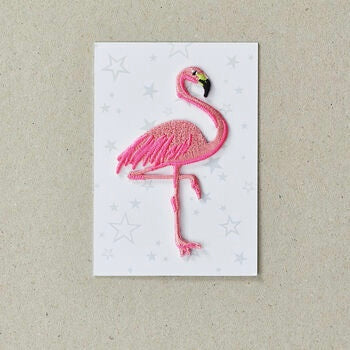 Iron on Patch Flamingo - Neon Pink