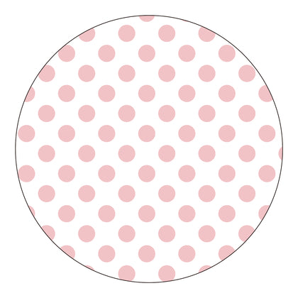 Round Stickers - Pale Pink Dots 10