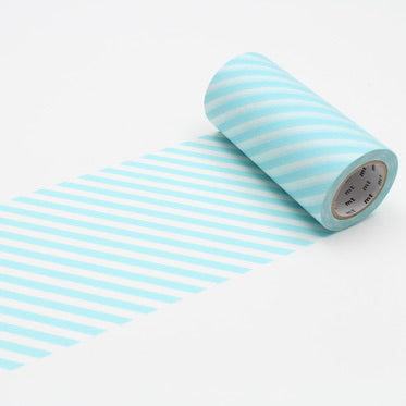 Washi Tape - Mint Blue Stripe 100mm