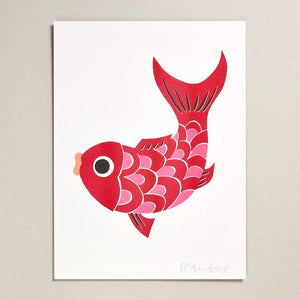 Koi Fish Print Large