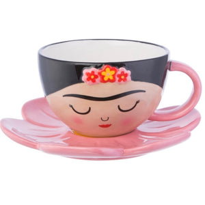 Frida Cup and Flower Saucer